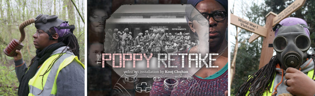 The Poppy Retake video art installation connecting wars, colonialism, games